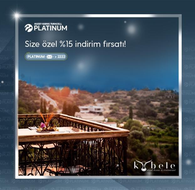 Turkcell Platinum ile Kybele Restoran'da ayrıcalıklısınız!