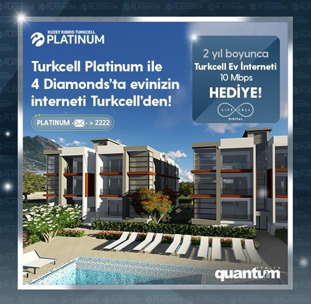 Turkcell Platinum ile 4 Diamonds'ta evinizin interneti Turkcell'den!