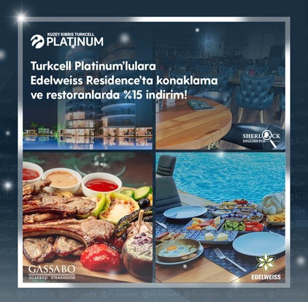 Edelweiss Residence'ta konaklama ve restoranlarda %15 indirim!
