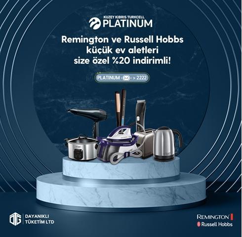 Remington ve Russell Hobbs küçük ev aletleri size özel %20 indirimli!