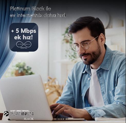 Platinum Black ile Turkcell Ev İnterneti Daha Hızlı!