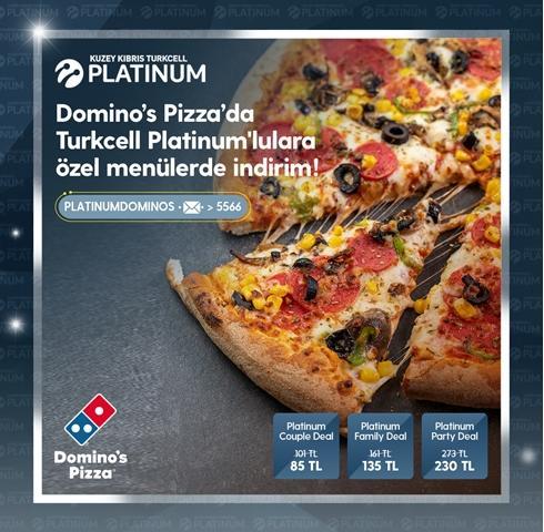 Domino's Pizza'da Turkcell Platinum'lulara özel menülerde indirim!