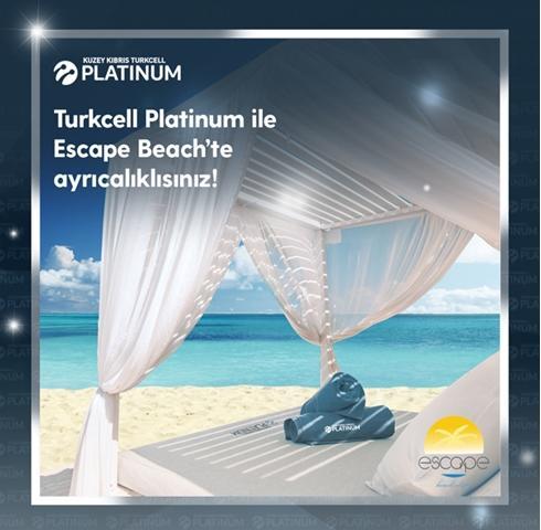 Platinum'lulara Escape Beach'te çift kişilik şezlong kullanımı ücretsiz!