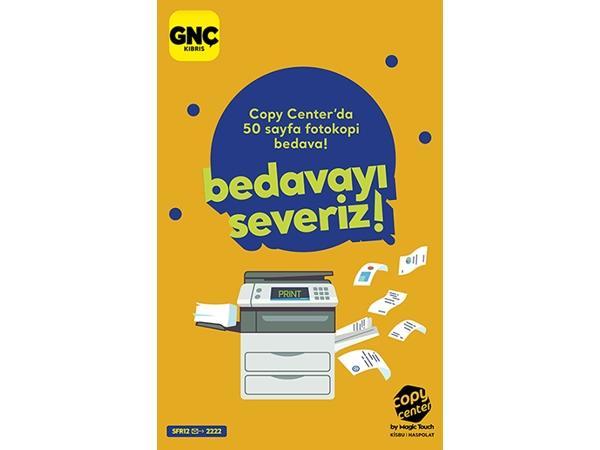UKÜ'lü GNÇ'ler Copy Center'de çok ayrıcalıklı!