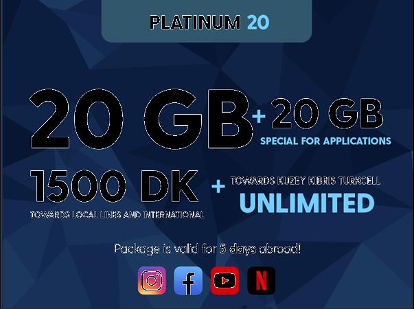 Platinum 20GB Package