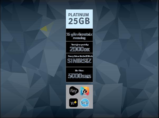 Platinum 25GB Paketi