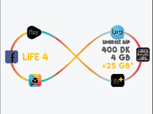 lifecell 4GB Paketi