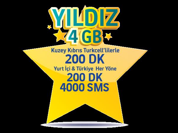 Yıldız 4GB Paketi