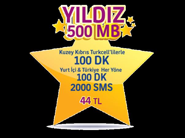 Yıldız 500MB Paketi